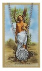Round St. Sebastian Medal with Prayer Card
