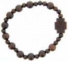 Jujube Wood Bead Rosary Bracelet - 8mm