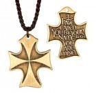 I Have Called You By Name Bronze Cross Pendant