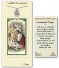Chalice Medal in Pewter with First Holy Communion Prayer Card