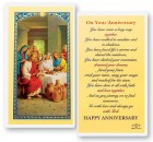 On Your Anniversary Laminated Prayer Cards 25 Pack