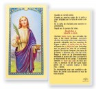 Oracion A Santa Lucia Laminated Spanish Prayer Cards 25 Pack