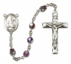 St. Andrew the Apostle Sterling Silver Heirloom Rosary Squared Crucifix