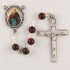 St. Matthew Brown Wood Rosary