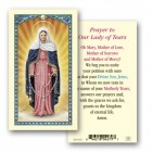 Our Lady of Tears Laminated Prayer Cards 25 Pack