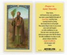 St. Timothy Laminated Prayer Cards 25 Pack