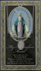 Miraculous Medal in Pewter with Bi-Fold Prayer Card