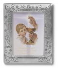 First Communion Pewter Photo Frame - Boy