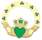 Claddagh Lapel Pin - 1""