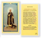 San Martin De Porres Laminated Spanish Prayer Cards 25 Pack
