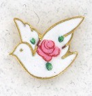 Cloisonne Dove Side Lapel Pin (12 pieces per order)