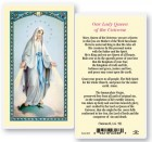 Our Lady Queen of The Laminated Prayer Cards 25 Pack