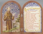St. Francis Diptych Standing Prayer Plaque