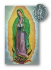 Our Lady of Guadalupe Lapel Pin with Holy Card