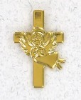 Angel On Cross Lapel Pin (12 pieces per order)