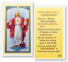 The Miracle of Friendship Sacred Heart of Jesus Laminated Prayer Cards 25 Pack