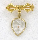 Heart Shaped Mustard Round Seed Pin (12 pieces per order)
