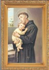 St. Anthony Antique Gold Framed Print