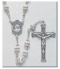 6mm Sterling Silver Bead Rosary in Sterling Silver