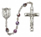 St. Jude Thaddeus Sterling Silver Heirloom Rosary Squared Crucifix