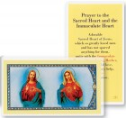 Prayer to Sacred Heart and Immaculate Heart Laminated Prayer Cards 25 Pack