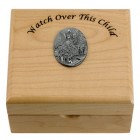 Guardian Angel Maple Wood Keepsake Box