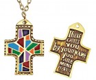 I Have Called You By Name Multi-Colored Cross Pendant