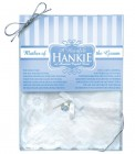 Mother of the Groom Hankie with crystal heart