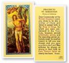 Prayer To St. Sebastian Laminated Prayer Cards 25 Pack