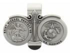 St. Michael U.S. Marines Visor Clip Pewter