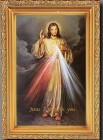 Divine Mercy Antique Gold Framed Print