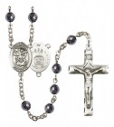 Men's St. Michael Air Force Silver Plated Rosary
