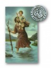 St. Christopher Lapel Pin with Holy Card