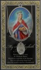 St. Elizabeth of Hungary Medal in Pewter with Bi-Fold Prayer Card