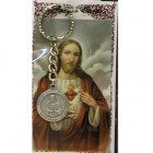Sacred Heart of Jesus Key Ring Prayer Card