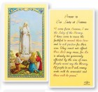 Prayer To Our Lady of Fatima Laminated Prayer Cards 25 Pack