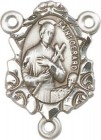 St. Gerard Majella Sterling Silver Rosary Centerpiece