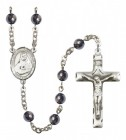 Men's St. Rose Philippine Duchesne Silver Plated Rosary