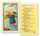 St. Christopher Motorist Laminated Prayer Cards 25 Pack