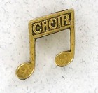 Double Notes / Choir Lapel Pin (12 pieces per order)