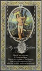 St. Sebastian Medal in Pewter with Bi-Fold Prayer Card