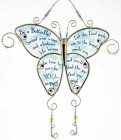 Be A Butterfly Hanging Glass Ornament