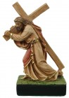 Christ with Cross Statue 10 Inch