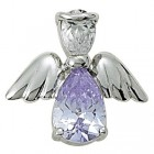 Angel Pin- June Birthstone