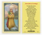 St. Julia Laminated Prayer Cards 25 Pack