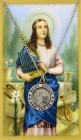 Round St. Cecilia Medal with Prayer Card