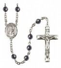Men's St. Lucy Silver Plated Rosary