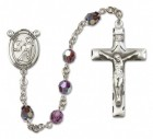 St. Luke the Apostle Sterling Silver Heirloom Rosary Squared Crucifix