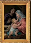 Holy Family Antique Gold Framed Print