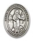 St. Isidore the Farmer Oval Visor Clip